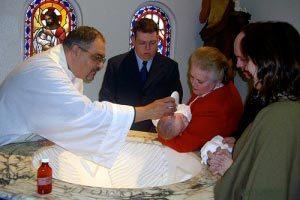 La celebración religiosa del bautismo junto con el cumpleaños