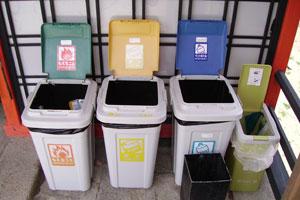 Organización de la basura para su reciclaje