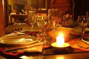 Menú y ambientación para una noche romántica en casa